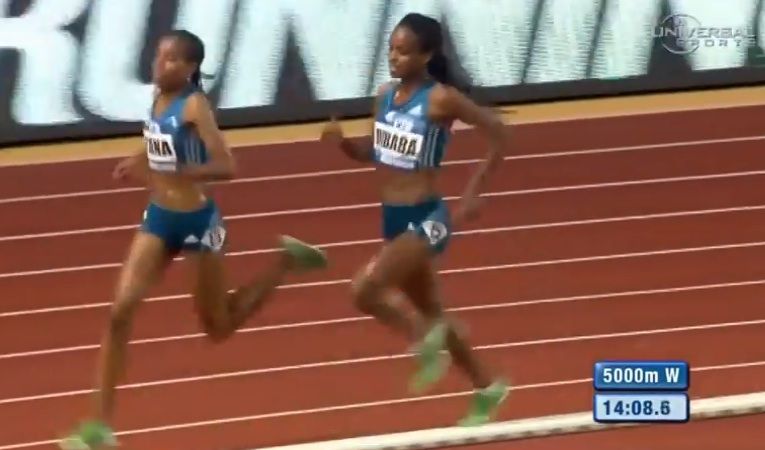Genzebe Dibaba won with the fastest time in the world
