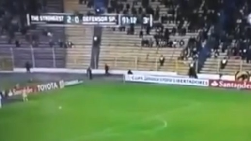 Football Spectators Spooked By Stadium Ghost in Bolivia