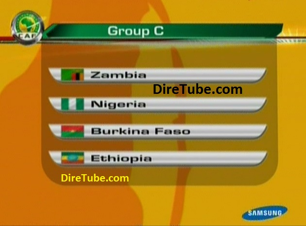 Ethiopia in Group C, With Nigeria, Zambia and Burkina Faso