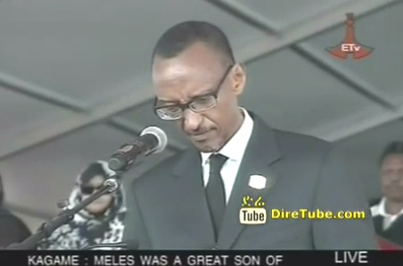 Meles Funeral - Paul Kagame Rwandan President Speech at Mesqel Square