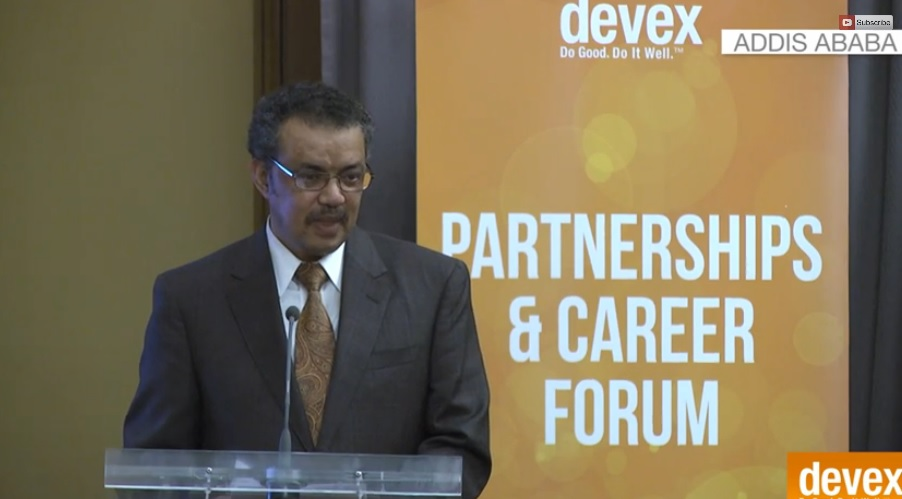 Developmental State - FM Tedros Adhanom keynote Speech