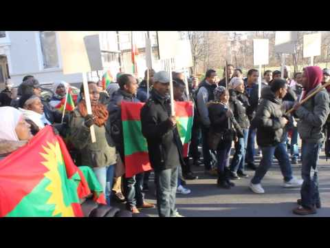 Oromo Community Rally at Saudi Embassy