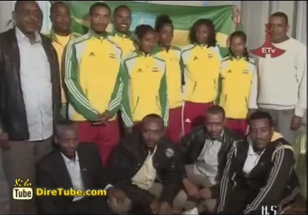 Defense Sport Club Athletes Representing Ethiopia on London 2012 Farewell Dinner
