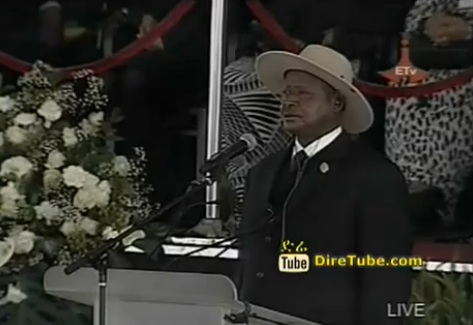 Meles Funeral - Yoweri Museveni Speak at Mesqel Square