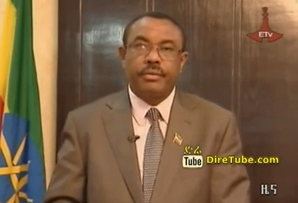 Deputy PM Hailemariam Desalegn Address the National Today Sept 3, 2012