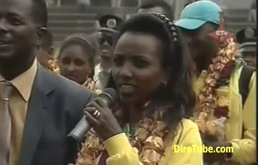 Heroes welcome for Ethiopian Team in Addis Ababa Stadium - Part 1