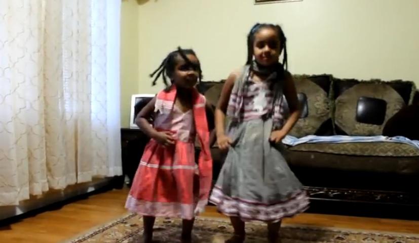 Ethiopian Kids Preforming Gojjam Eskista Dance