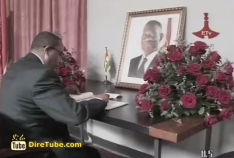 Hailemariam expresses condolences over the death of Ghana's President