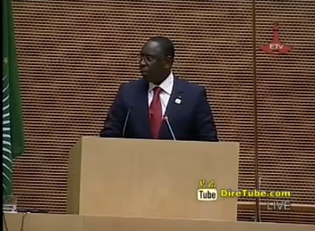 Speech by President of Senegal on AU summit in Addis