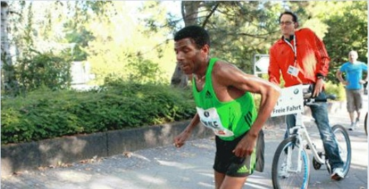 Haile Gebrselassie quits Great Scottish Run in Glasgow October 6,2014