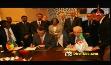 Dr. Tewodrs Adhanom Signed Strategic Partnership Agreement with Algeria