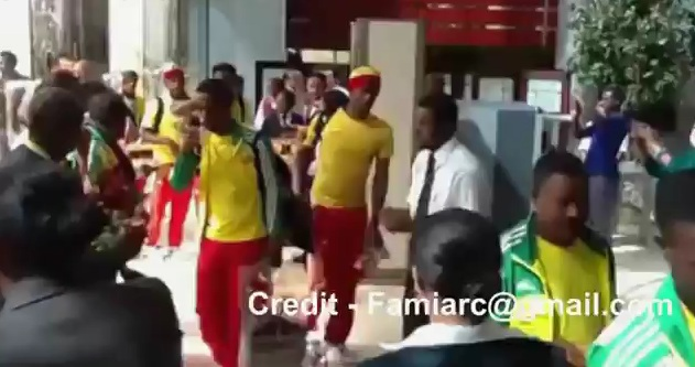 Ethiopian Team Warm Welcome @ Intercontinental Hotel