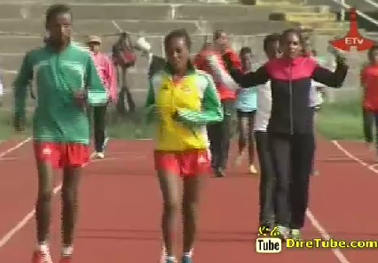 Team Ethiopia Training for IAAF World Championship Moscow 2013