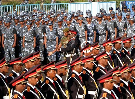Ethiopia military parades its might in Addis Ababa