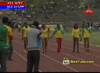Realy Race B/n Ethiopian Women Athletes