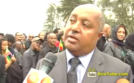 Ethiopian Diaspora Paying Respect to Prime Minster Meles Zanawi