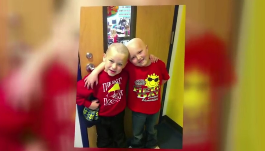 First Grader Shaves Head For Friend With Cancer