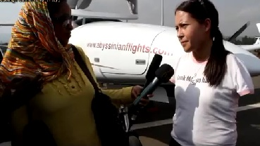 Jessica Cox World's First Licensed Armless Pilot Visited Ethiopia