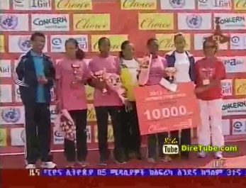 5000m Female Great Run Held in Addis Ababa