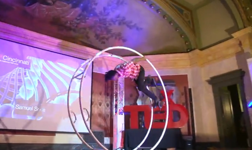 Tedx Talks - Samuel Sake the Amazing Gym Wheel Performance