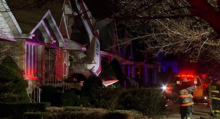 Plane Crashes Into Chicago House, Narrowly Missing Sleeping Couple!