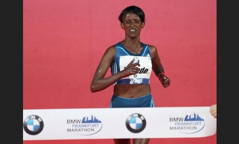 Aberu Kebede wins Frankfurt Marathon