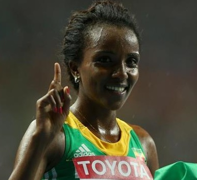 Tirunesh Dibaba Wins IAAF Moscow 2013 Women 10000m Final