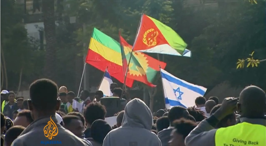 Thousands of asylum seekers protest in Israel - January 2014