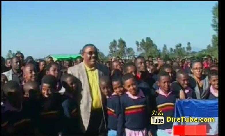 PM Hailemariam Visits Model High School Wolaitta Liqa