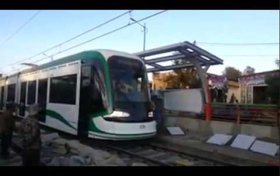 NEW! Video of Ababa Light Train Rolling