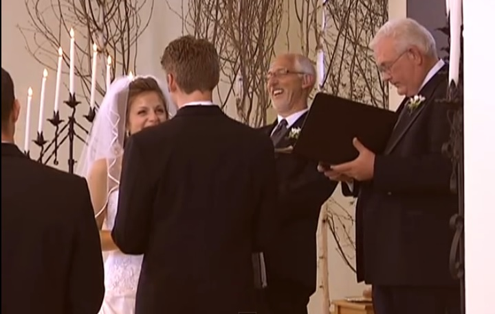 Groom Mess Up His Lines and The Bride's Adorable Reaction