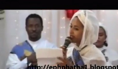 Meseret Mebrate - Reading Menebaneb - at Orthodox Church