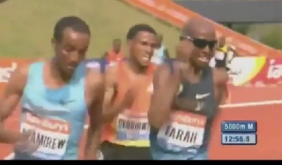 Ethiopia's Yenew Alamirew Vs. UK' s Mohamed Farah Thrilling Race