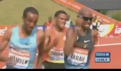 Ethiopian Sport - Ethiopia's Yenew Alamirew Vs. UK' s Mohamed Farah Thrilling Race