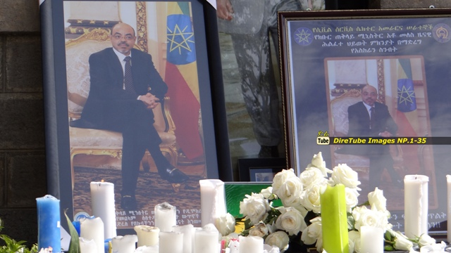 Emotional reaction from Addis Residence at national Palace to pay Tribute