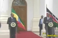 PM Hailemariam and Kenyatta discuss ways of scaling up efforts for Dev't