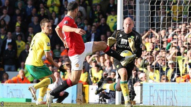 Norwich vs Manchester United 1-2 Highlights Feb 26, 2012