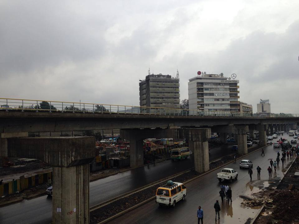 Walta - Latest Progress on Addis Ababa Light Railway Project