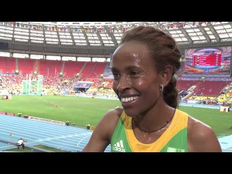 Moscow 2013 - Interview with Meseret Defar - 5000m Women - Heat 2
