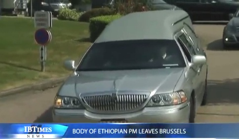 IBTimesUK - Body of Ethiopian PM Meles Zenawi leaving Brussels