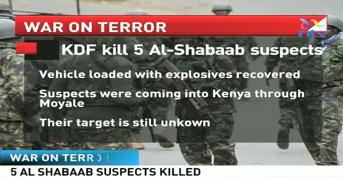 KDF kill five suspected Al Shabaab along Kenya-Ethiopia border