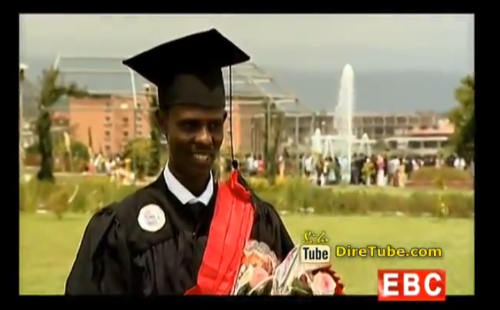 Mesele Haile Graduating Student at Hawasa University with High CGPA