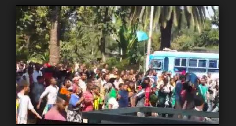 Protest Held in Bahirdar over controversial construction site