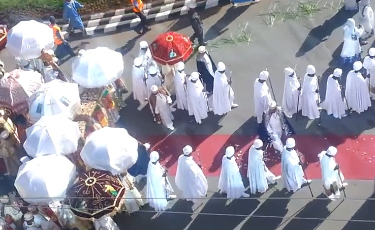 Timket being celebrated in the heart of Addis Ababa