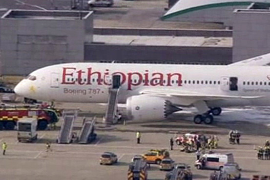 Ethiopian Boeing 787 Catches Fire at Heathrow
