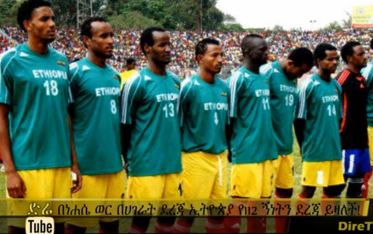 Ethiopia drop two Spots in August FIFA Rankings