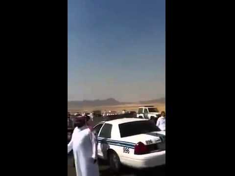 Ethiopians rioting, blocking the Jeddah Makkah highway