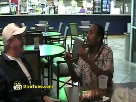 Ethiopian Comedy - Filfilu Speaking English in American Restaurant