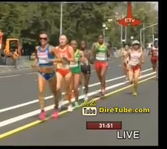 Moscow 2013 - Day 1 Women Marathon Highlight - Ethiopia Finish 13th