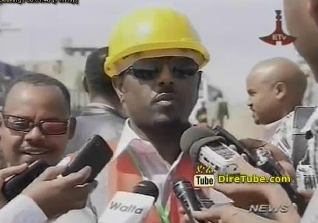 Ethiopian News - Addis Ababa Light Railway Construction is Progressing Well